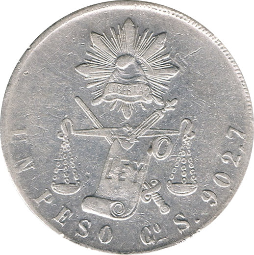 MÉXICO. 1 PESO. 1.873 (S) GUANAJUATO