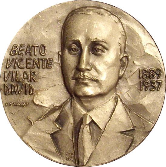 ESPAÑA. MEDALLA BEATO VICENTE VILAR DAVID. 1.995