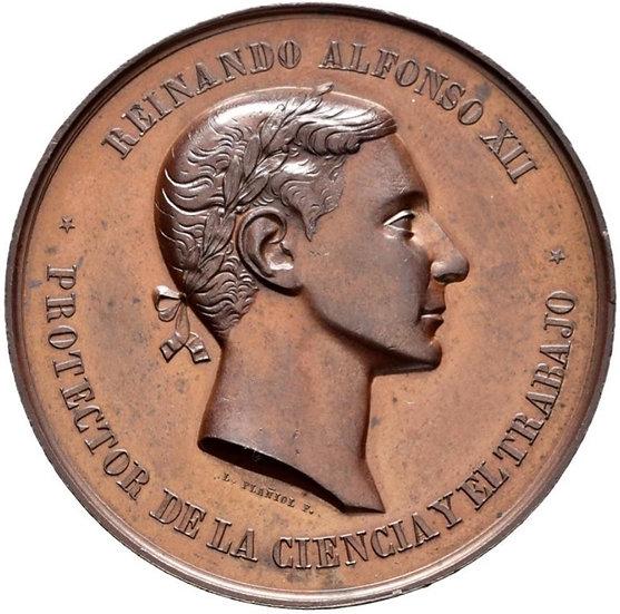 ESPAÑA. ALFONSO XII. MEDALLA EXPOSICIÓN DE GUADALAJARA. 1.876