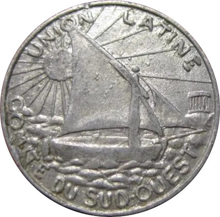 FRANCIA. UNIÓN LATINA. COMITÉ DEL SUDOESTE. 5 CÉNTIMOS. 1922-1930