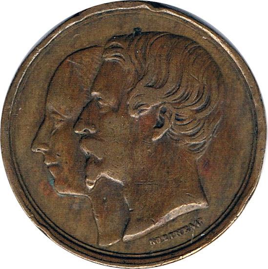 FRANCIA. NAPOLEÓN III. MEDALLA LA VILLE DE LILLE. 1.853