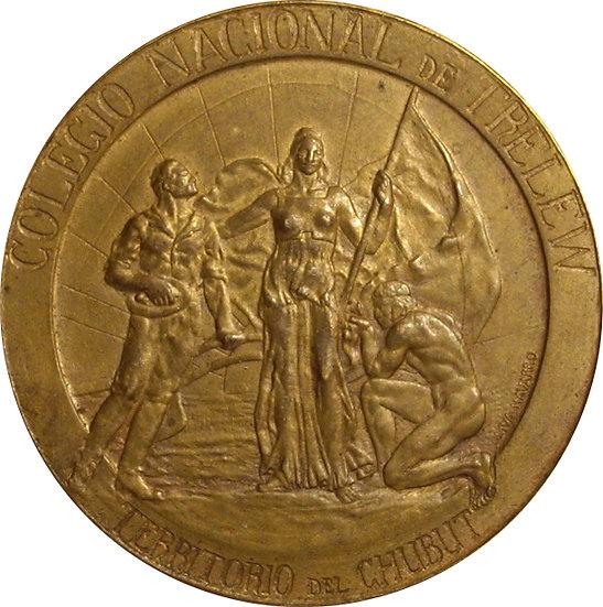 ARGENTINA. MEDALLA COLEGIO NACIONAL DE TRELEW. 1.924