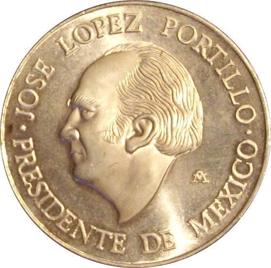 MÉXICO. MEDALLA VISITA JUAN CARLOS A MÉXICO. 1.978