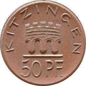 ALEMANIA. 50 PFENNIG TOKEN 1.921. KITZINGEN
