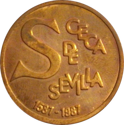 ESPAÑA. MEDALLA F.N.M.T. IV CENTENARIO CECA DE SEVILLA. 1.988