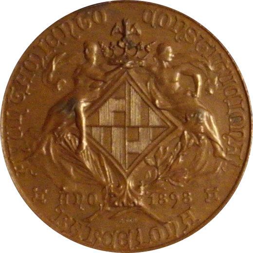 MEDALLA FERIA CONCURSO AGRICOLA. BARCELONA 1.898