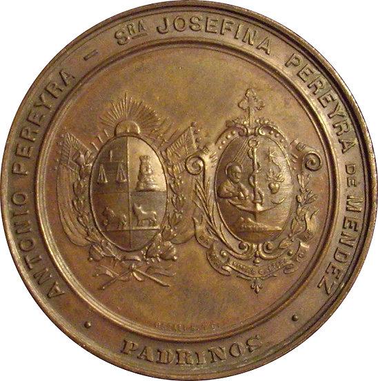 URUGUAY. MEDALLA TALLERES DON BOSCO. MONTEVIDEO. 1.896