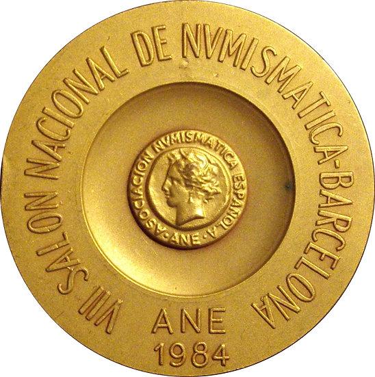 ESPAÑA. MEDALLA VII SALÓN NACIONAL DE NUMISMÁTICA. BARCELONA 1.984