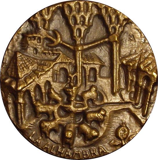 ESPAÑA. MEDALLA F.N.M.T.  LA ALHAMBRA. 1.960