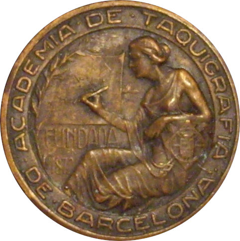 MEDALLA ACADEMIA DE TAQUIGRAFIA DE BARCELONA. 1.947