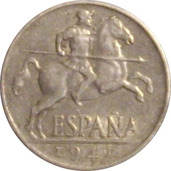 ESPAÑA. FRANCISCO FRANCO. 10 CÉNTIMOS 1.941. PLVS CON V