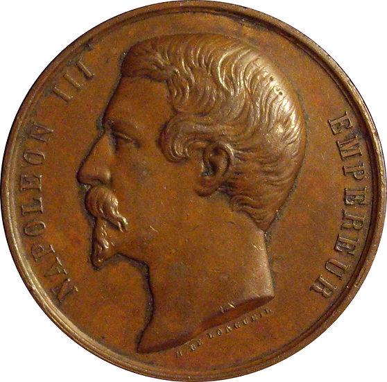 NAPOLEÓN III. MEDALLA SOCIEDAD HORTICULTURA DE BERGERAC