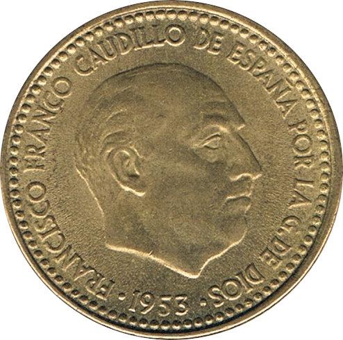 ESPAÑA. FRANCISCO FRANCO. 1 PESETA 1.953 *61