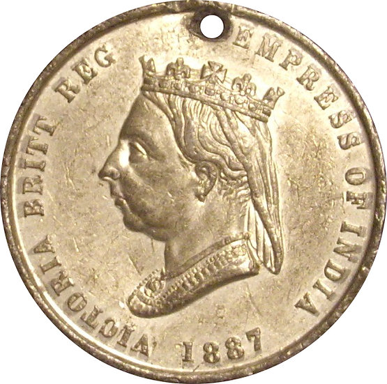 INGLATERRA. REINA VICTORIA. MEDALLA JUBILEO 50 ANIVERSARIO. 1.887