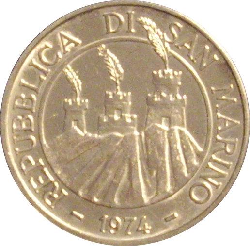 SAN MARINO. 500 LIRAS. 1.974