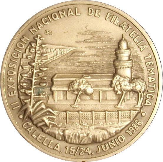 ESPAÑA. MEDALLA II EXPOSICIÓN NACIONAL DE FILATELIA TEMÁTICA 1.986