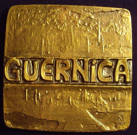 ESPAÑA. MEDALLA F.N.M.T. DEDICADA A GUERNICA. 1.983