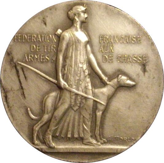 FRANCIA. MEDALLA DE LA FEDERACIÓN FRANCESA DE ARMAS DE CAZA. 1.964