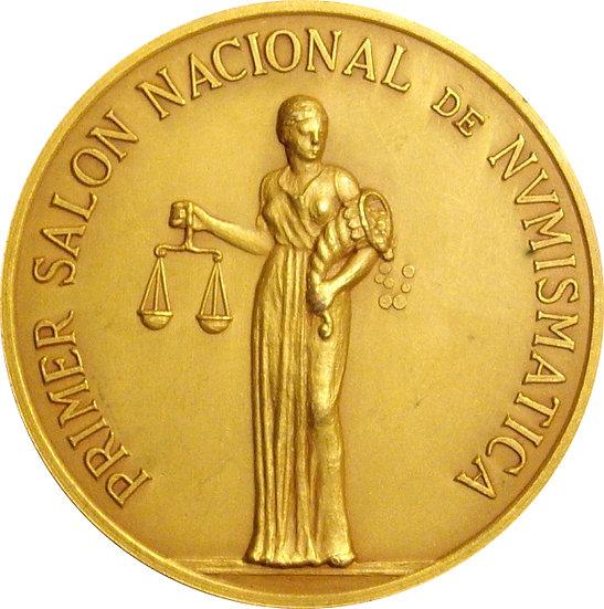 ESPAÑA. MEDALLA I SALÓN NACIONAL DE NUMISMÁTICA. BARCELONA 1.978