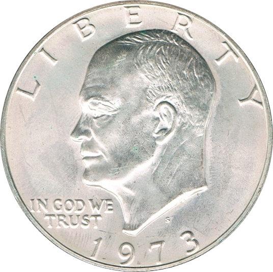 USA. 1 DÓLAR  1.973 (S). EISENHOWER