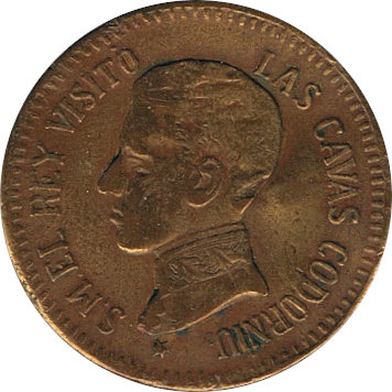 ESPAÑA. ALFONSO XIII. MEDALLA VISITA CAVAS CODORNIÚ. 1.904
