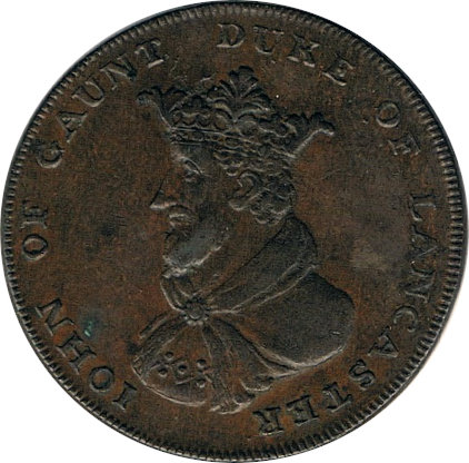 INGLATERRA. 1/2 PENNY TOKEN. JOHN OF GAUNT DUKE OF LANCASTER