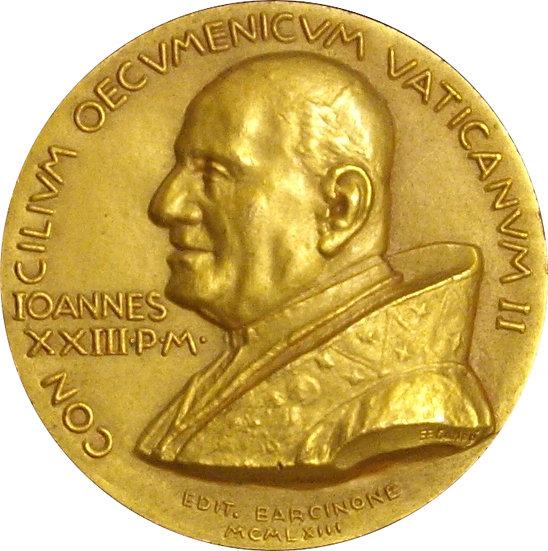 ESPAÑA. JUAN XXIII. MEDALLA CONCILIO VATICANO II. 1.963