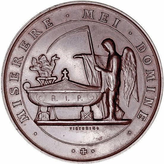 MEDALLA FALLECIMIENTO DUQUE DE OSUNA. 1.882