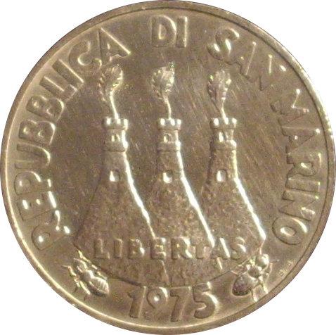 SAN MARINO. 500 LIRAS. 1.975
