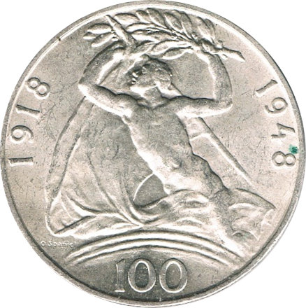 CHECOSLOVAQUIA. 100 CORONAS. 1.948