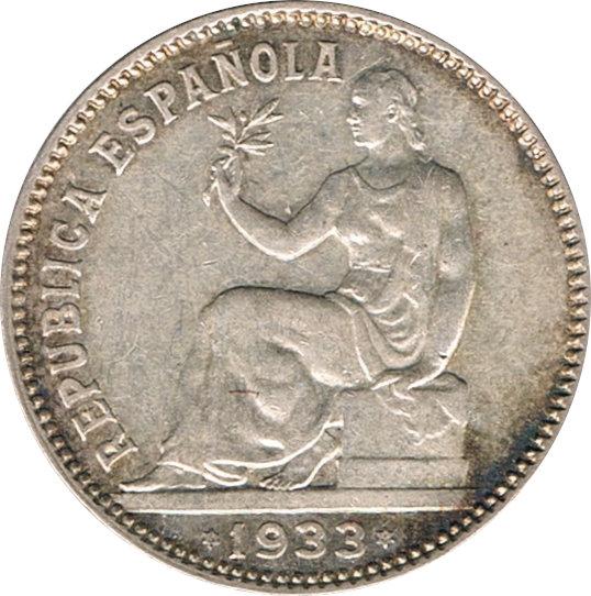 ESPAÑA. 2ª REPÚBLICA. 1 PESETA 1.933*(34)