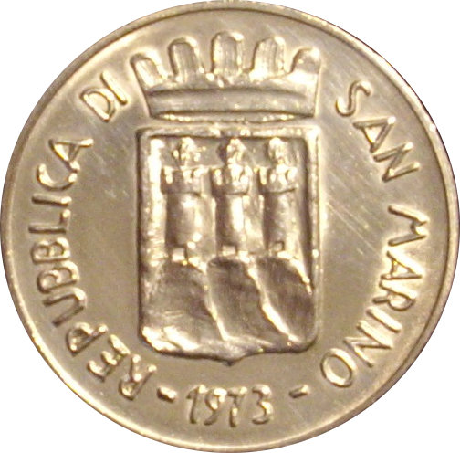 SAN MARINO. 500 LIRAS. 1.973