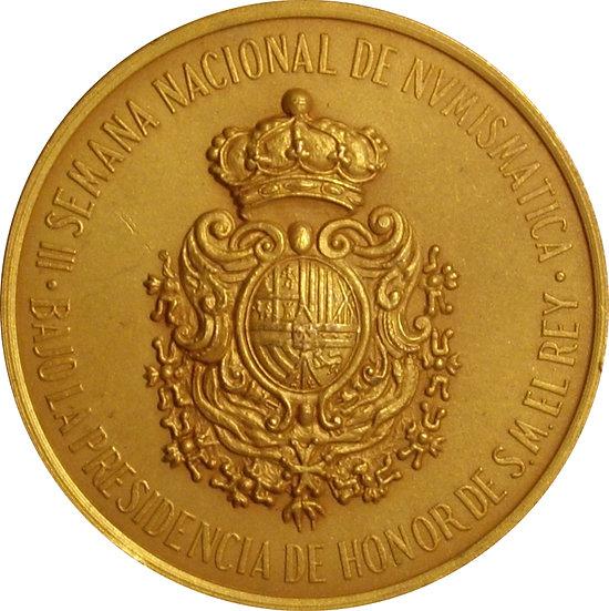 ESPAÑA. MEDALLA III SALÓN NACIONAL DE NUMISMÁTICA. BARCELONA 1.980