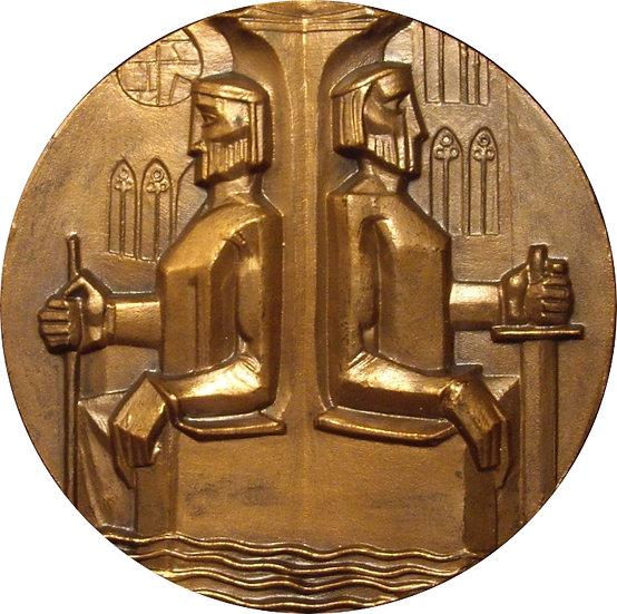 ESPAÑA. MEDALLA F.N.M.T.  RÍO ARLANZON. 1.963
