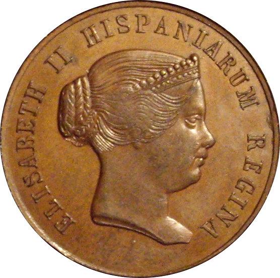ISABEL II. MEDALLA DE LA VISITA A SEVILLA 1.862