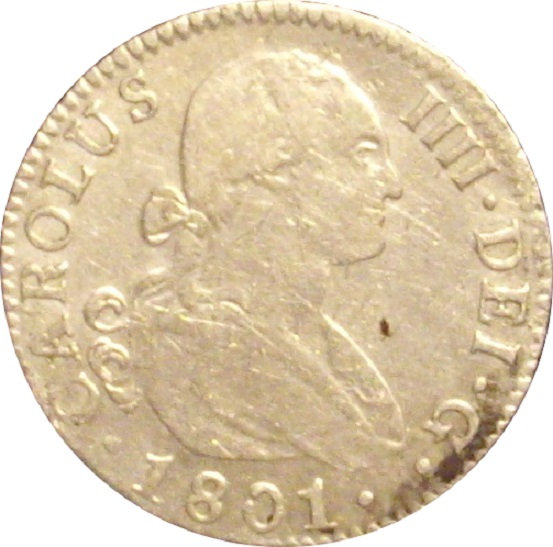 ESPAÑA. CARLOS IV. 2 REALES 1.801 SEVILLA
