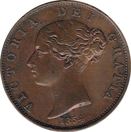 INGLATERRA. 1/2 PENIQUE. 1.854