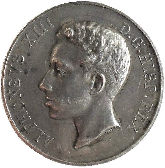 ESPAÑA. ALFONSO XIII. MEDALLA MAYORÍA DE EDAD. 1.902