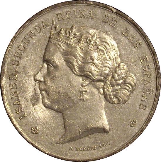 ISABEL II. EXPOSICIÓN UNIVERSAL PARIS 1.867