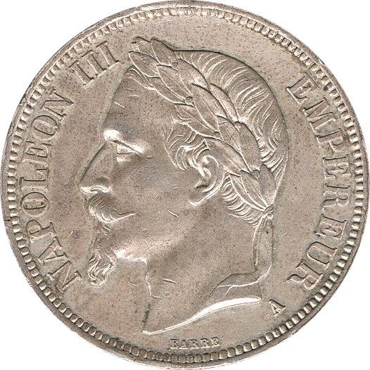 FRANCIA. NAPOLEÓN III. 5 FRANCOS 1.869 PARÍS