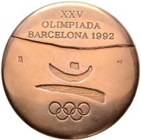 ESPAÑA. MEDALLA OFICIAL BARCELONA 1.992. COLABORADOR