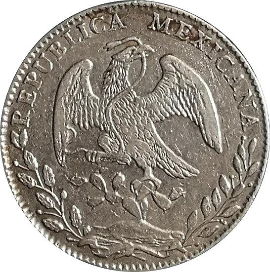 MÉXICO. 8 REALES. 1.884/74 (BR) GUANAJUATO