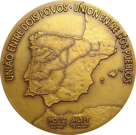 INAUGURACIÓN PUENTE INTERNACIONAL RÍO MIÑO. 1993. CON CAJA