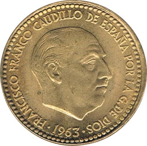 ESPAÑA. FRANCISCO FRANCO. 1 PESETA 1.963 *63