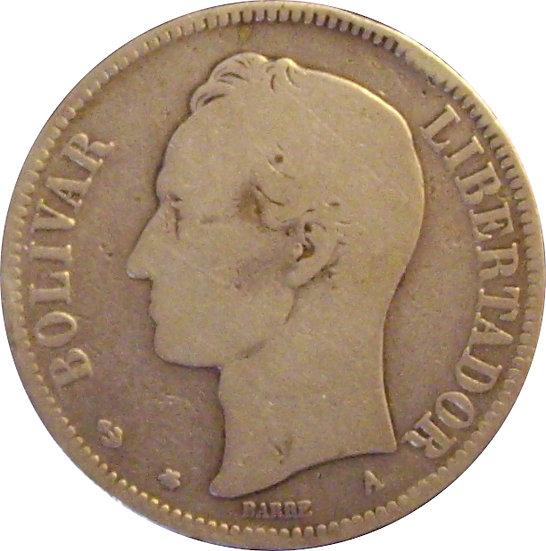 VENEZUELA. 1 VENEZOLANO 1.876 (A)