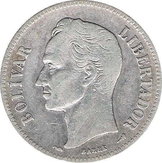 VENEZUELA. 2 BOLÍVARES 1.905