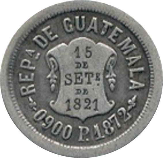 GUATEMALA. 2 REALES. 1.872 (P)