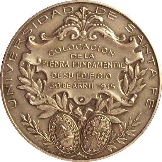 ARGENTINA. MEDALLA INAUGURACIÓN UNIVERSIDAD STA. FÉ. 1.915