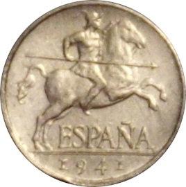 ESPAÑA. FRANCISCO FRANCO. 5 CÉNTIMOS 1.941