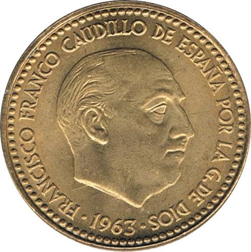 ESPAÑA. FRANCISCO FRANCO. 1 PESETA 1.963 *67
